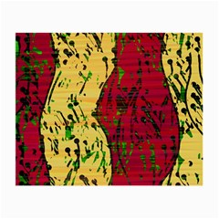 Maroon and ocher abstract art Small Glasses Cloth (2-Side)