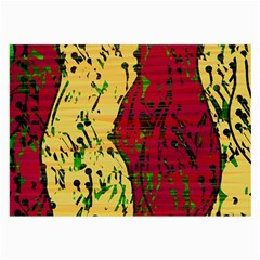Maroon and ocher abstract art Large Glasses Cloth