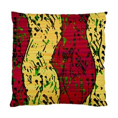 Maroon and ocher abstract art Standard Cushion Case (One Side)