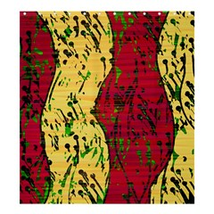 Maroon and ocher abstract art Shower Curtain 66  x 72  (Large)