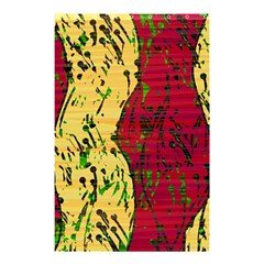 Maroon and ocher abstract art Shower Curtain 48  x 72  (Small)