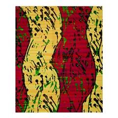 Maroon and ocher abstract art Shower Curtain 60  x 72  (Medium)
