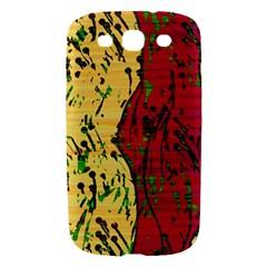 Maroon and ocher abstract art Samsung Galaxy S III Hardshell Case