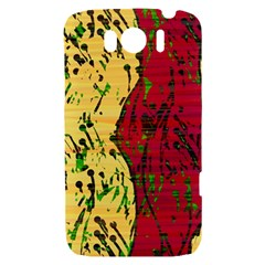 Maroon and ocher abstract art HTC Sensation XL Hardshell Case