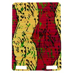 Maroon and ocher abstract art Kindle Touch 3G