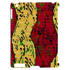Maroon and ocher abstract art Apple iPad 2 Hardshell Case (Compatible with Smart Cover)