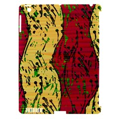 Maroon and ocher abstract art Apple iPad 3/4 Hardshell Case (Compatible with Smart Cover)