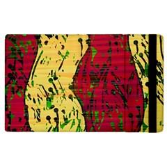Maroon and ocher abstract art Apple iPad 2 Flip Case