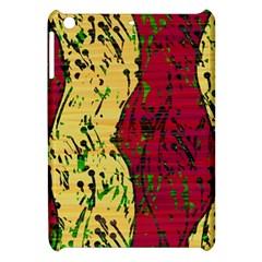 Maroon and ocher abstract art Apple iPad Mini Hardshell Case