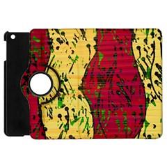 Maroon and ocher abstract art Apple iPad Mini Flip 360 Case