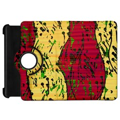 Maroon and ocher abstract art Kindle Fire HD Flip 360 Case