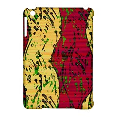 Maroon and ocher abstract art Apple iPad Mini Hardshell Case (Compatible with Smart Cover)