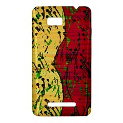 Maroon and ocher abstract art HTC One SU T528W Hardshell Case