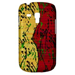 Maroon and ocher abstract art Samsung Galaxy S3 MINI I8190 Hardshell Case