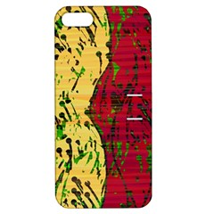 Maroon and ocher abstract art Apple iPhone 5 Hardshell Case with Stand