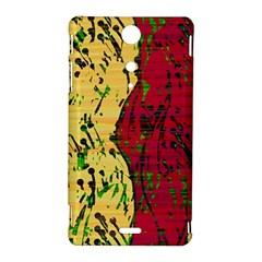 Maroon and ocher abstract art Sony Xperia TX