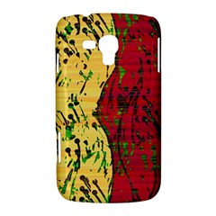 Maroon and ocher abstract art Samsung Galaxy Duos I8262 Hardshell Case