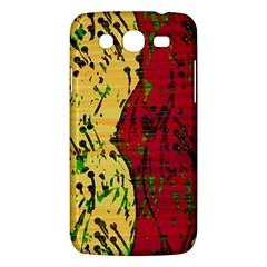Maroon and ocher abstract art Samsung Galaxy Mega 5.8 I9152 Hardshell Case