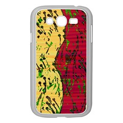 Maroon and ocher abstract art Samsung Galaxy Grand DUOS I9082 Case (White)
