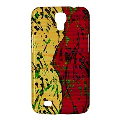Maroon and ocher abstract art Samsung Galaxy Mega 6.3  I9200 Hardshell Case