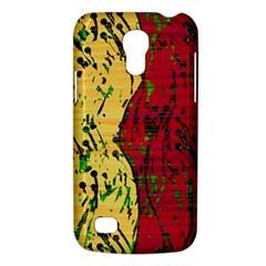 Maroon and ocher abstract art Galaxy S4 Mini