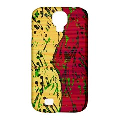 Maroon and ocher abstract art Samsung Galaxy S4 Classic Hardshell Case (PC+Silicone)
