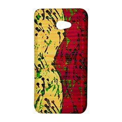 Maroon and ocher abstract art HTC Butterfly S/HTC 9060 Hardshell Case