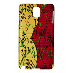 Maroon and ocher abstract art Samsung Galaxy Note 3 N9005 Hardshell Case