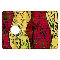 Maroon and ocher abstract art Kindle Fire HDX Flip 360 Case