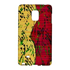 Maroon and ocher abstract art Galaxy Note Edge