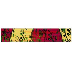 Maroon and ocher abstract art Flano Scarf (Large)