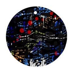 Blue confusion Ornament (Round)