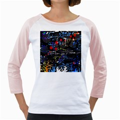 Blue confusion Girly Raglans