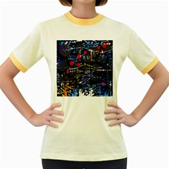 Blue confusion Women s Fitted Ringer T-Shirts