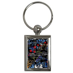 Blue confusion Key Chains (Rectangle)