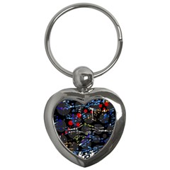 Blue confusion Key Chains (Heart)