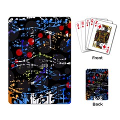Blue confusion Playing Card