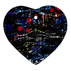 Blue confusion Heart Ornament (2 Sides)