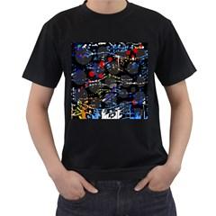 Blue confusion Men s T-Shirt (Black)