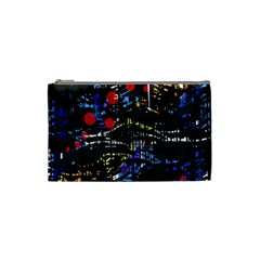 Blue confusion Cosmetic Bag (Small)
