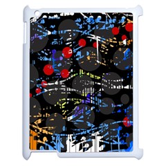 Blue confusion Apple iPad 2 Case (White)