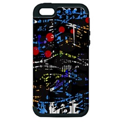 Blue confusion Apple iPhone 5 Hardshell Case (PC+Silicone)