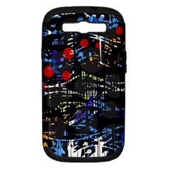Blue confusion Samsung Galaxy S III Hardshell Case (PC+Silicone)