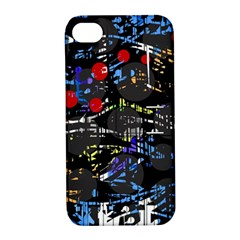 Blue confusion Apple iPhone 4/4S Hardshell Case with Stand