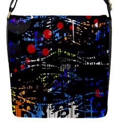 Blue confusion Flap Messenger Bag (S)