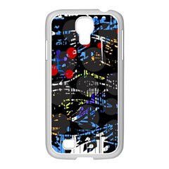 Blue confusion Samsung GALAXY S4 I9500/ I9505 Case (White)