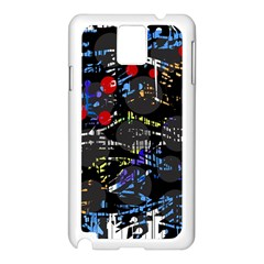 Blue confusion Samsung Galaxy Note 3 N9005 Case (White)