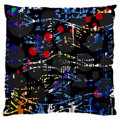 Blue confusion Large Flano Cushion Case (Two Sides)