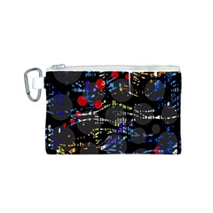 Blue confusion Canvas Cosmetic Bag (S)