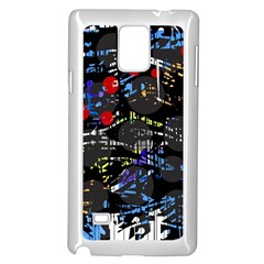 Blue confusion Samsung Galaxy Note 4 Case (White)